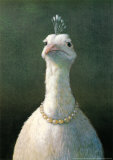 Fowl with Pearls Art Print