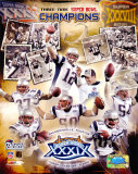 Patriots - 3 Time Super Bowl  Champions Composite