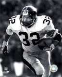 Franco Harris - Rushing With Ball (B&W)