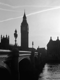 View of Big Ben from Across the Westminster Bridge Photographic Print