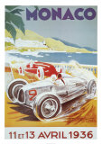 8th Grand Prix Automobile, Monaco, 1936 Art Print