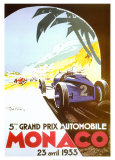 5th Grand Prix Automobile, Monaco, 1933 Art Print