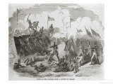 The Battle of New Orleans, 8th January 1815, Engraved by Thomas Phillibrown, 1856