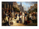 Napoleon Bonaparte (1769-1821) Receiving Queen Louisa of Prussia (1776-1810) at Tilsit