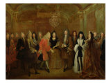Louis XIV (1638-1715) Welcomes the Elector of Saxony, Frederick Augustus II (1670-1733)