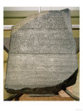 The Rosetta Stone, from Fort St. Julien, El-Rashid (Rosetta) 196 BC (Stone