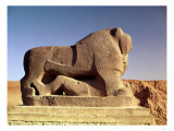 The Lion of Babylon, an over Life-Size Figure of a Lion Trampling a Man, Probably of Hittite Origin