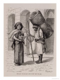 Mexican Tortillera and Straw Mat Seller, from
