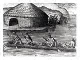 Florida Indians Storing Their Crops in the Public Granary, from