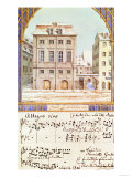 The Leipzig Gewandhaus with a Piece of Music by Felix Mendelssohn (1809-47)