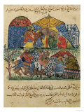 An Old Man and a Young Man in Front of the Tents of the Rich Pilgrims, from