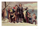 The Landing of the Pilgrims at Plymouth, Massachusetts, December 22nd 1620 by Currier & Ives