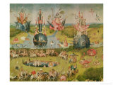 The Garden of Earthly Delights: Allegory of Luxury, Central Panel of Triptych, circa 1500