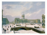 Kazan Cathedral, St. Petersburg, Printed by Lemercier, Paris, 1840s