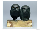 Two Owls, 1903-04 (Bronze and Onyx)