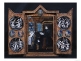 Mourning Cabinet with Scenes of the Life of Christ and Attributes of Henri II (1519-59)