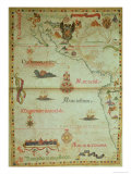 Add 5415A Conquest of Mexico and Peru, Page from a Portolan Atlas, circa 1588