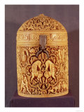Pyx with a Relief of the Pleasures of Courtly Life, Inscribed with the Name Al-Mughira