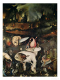 The Garden of Earthly Delights, Hell, Right Wing of Triptych, circa 1500