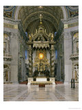 The Baldacchino, the High Altar and the Chair of St. Peter