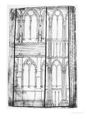 Exterior and Interior Elevation of the Lateral Walls of Reims Cathedral
