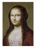 Portrait of a Woman Inspired by the Mona Lisa