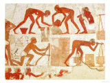 Construction of a Wall, from the Tomb of Rekhmire, Vizier of Tuthmosis III and Amenhotep II