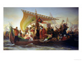 The Crossing of the Bosphorus by Godfrey of Bouillon (circa 1060-1100) and His Brother, Baldwin