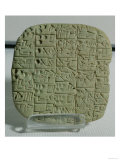 Tablet with Cuneiform Script Detailing a Contract for Selling a Field and a House, from Shuruppak
