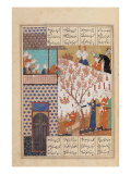 Khosro Before Shirins Palace, Illustration to Khosro and Shirin, 1176, by Elias Nezami (1140-1209)