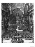 Funeral of Marie-Louise D'Orleans (1662-89) Queen of Spain, at the Church St. Paul St. Louis Giclee Print