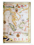 Mainland Southeast Asia, Detail from a World Atlas, 1565
