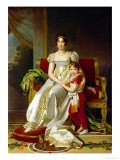Hortense De Beauharnais (1783-1837) Queen of Holland and Her Son, Napoleon Charles Bonaparte Giclee Print