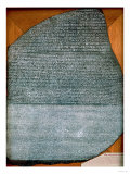 The Rosetta Stone, from Fort St. Julien, El-Rashid (Rosetta) 196 BC