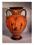 Athenian Black-Figure Amphora, Showing Olive Gathering, circa 520 BC