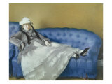 Madame Manet on a Blue Sofa, 1874