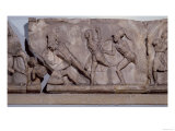 Frieze Slab from the Tomb of Mausolus, Satrap of Caria, a Battle Between the Greeks and Amazons