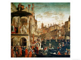 Buy The Miracle of the Relic of the True Cross on the Rialto Bridge, 1494 at AllPosters.com