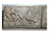 Frieze Slab from the Mausoleum of Mausolus, Satrap of Caria, Greeks & Amazons in Battle