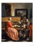 A Man and a Woman Seated by a Virginal, circa 1665