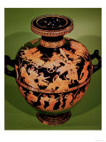 Greek Hydria, Representing the Rape of Leucippides, by the Painter of Meidias, 480 BC