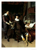 Constantijn Huygens (1596-1687) and His Clerk, 1627