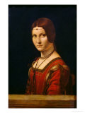 Portrait of a Lady from the Court of Milan, circa 1490-95 Giclee Print