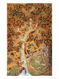Johnson Album I, No.30 Squirrels on a Plane Tree, Mughal, circa 1610