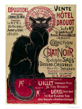 Buy Poster Advertising an Exhibition of the Collection Du Chat Noir Cabaret at the Hotel Drouot, Paris at AllPosters.com