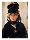 Berthe Morisot with a Bouquet of Violets, 1872 Giclee Print