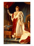Napoleon in Coronation Robes, circa 1804 Giclee Print