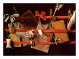 A Trompe L'Oeil of Objects Attached to a Letter Rack, 1664