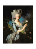 Marie Antoinette (1755-93) with a Rose, 1783 Giclee Print