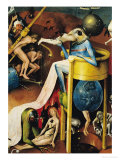 The Garden of Earthly Delights: Right Wing of Triptych, Detail of Blue Bird-Man on a Stool, c. 1500